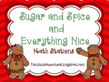 Gingerbread Men ~ Sugar and Spice and Everything Nice Math
