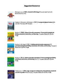Suggested Resources for Science & Math Teachers