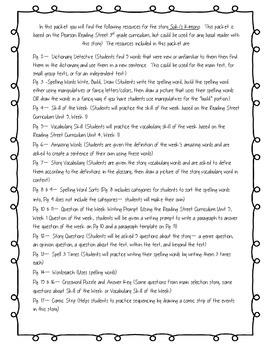 Suki's Kimono - Reading Street 3.5.1 Packet