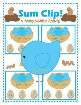 Sum Clip! A Spring Addition Activity
