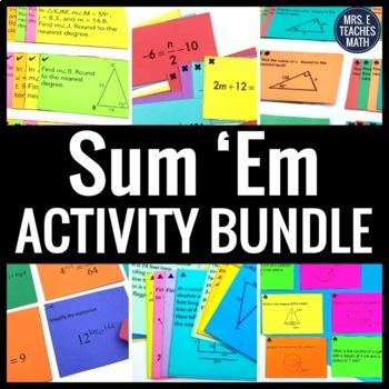 Sum 'Em Activity Bundle
