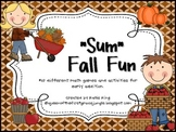"""Sum"" Fall Fun"": 10 Fall themed addition activities/centers"