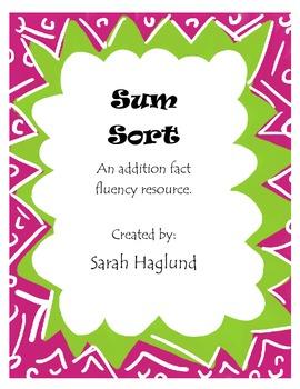 Sum Sort - Fact Fluency