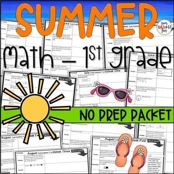 Summer:  Math Activities For First Grade