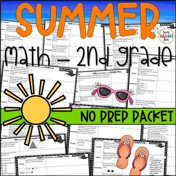Summer:  Math Activities for Second Grade