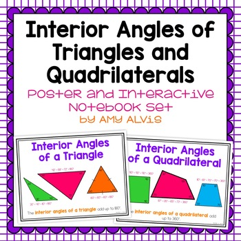Sum of Interior Angles of Triangles and Quads Poster and I