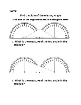 Sum of Missing Angle Common Core