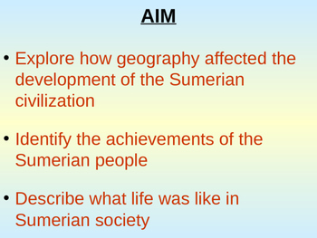 Sumerian Civilization: Ancient Sumer