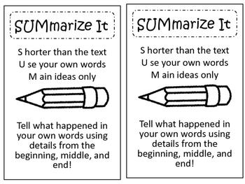 Summarize It! Summary Reading Chart or Interactive Noteboo