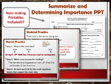Summarize and Determining Importance Power Point