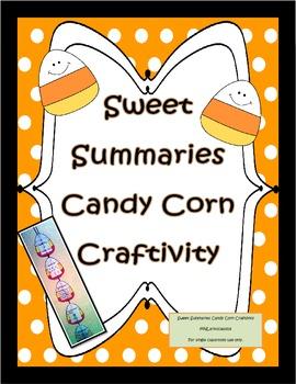 Summarizing Craftivity for Fall with Sweet Summaries Candy