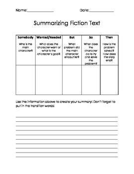 Summarizing Fiction Text