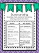 Summarizing Fiction and Non-Fiction Text FREEBIE!
