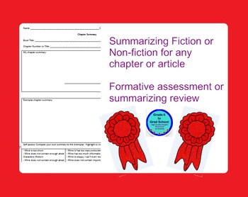 FREE- 24 hrs!Summarizing Formative Assessment or HW for an