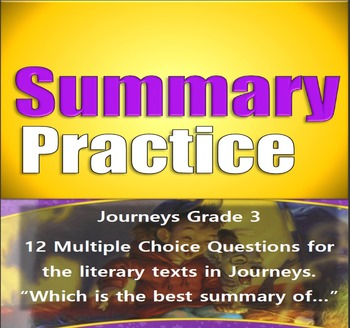 Summarizing Journeys (STAAR Prep)