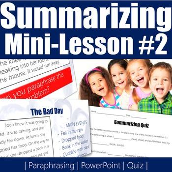 Summarizing Mini-Lesson 2