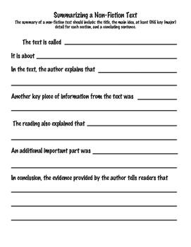 Summarizing Nonfiction Texts