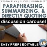 Summarizing, Paraphrasing, and Directly Quoting Carousel--