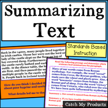Summarizing Text of Written Nonfiction Passages for Promet