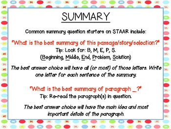 Summary Anchor Chart - {Great for Standardized Test Prep!}