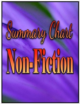 Summary Chart Non-Fiction