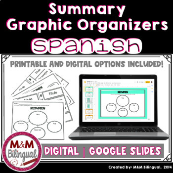 Summary Graphic Organizers in Spanish {Resumen}