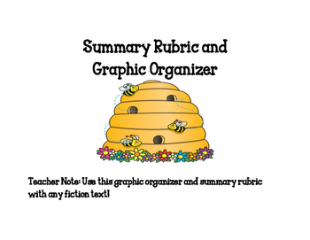 Summary Rubric and Graphic Organizer for Fiction Texts