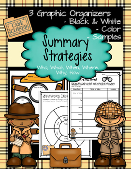 Summarization Graphic Organizers - Reading Strategies