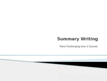 Summary Writing Power point