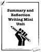 Summary and Reflection Writing Mini Unit Booklet
