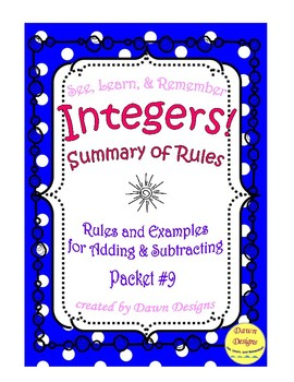For Adding And Subtracting Integers Worksheet - Delibertad