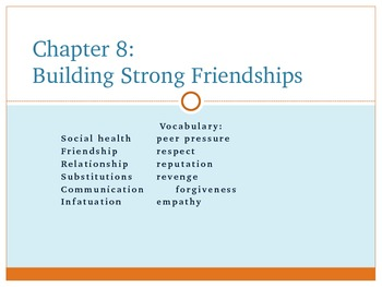 Summary of Total Health Chapter 8 Powerpoint Presentation