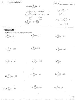 Summation Sigma Notation Infinite Geometric Series Measure