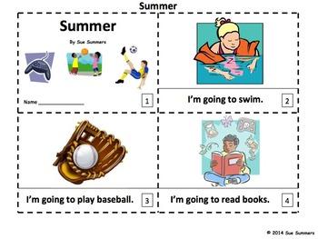 Summer 2 Emergent Reader Booklets