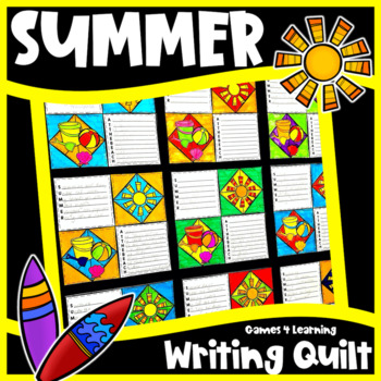 Summer Activity: Summer Writing Prompts Quilt