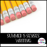 Summer 5 Senses Writing