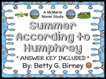 Summer According to Humphrey (Betty G. Birney) Novel Study