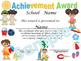 Summer Achievement award English / Spanish version