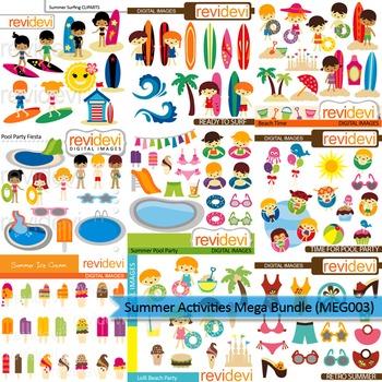 Summer Activities clip art mega bundle (9 packs)
