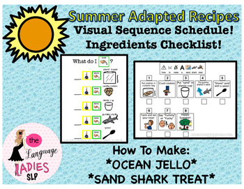 Summer Adapted Recipes: Visual Supports
