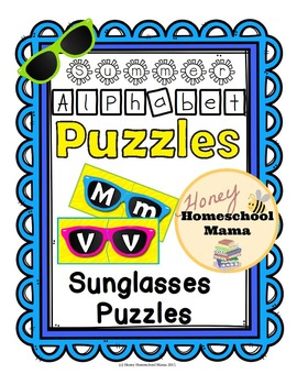Summer Alphabet Puzzles with Sunglasses Puzzle Cards - Bri