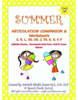 Summer Articulation Companion & Worksheets