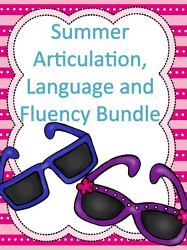 Summer Articulation, Language and Fluency Packet
