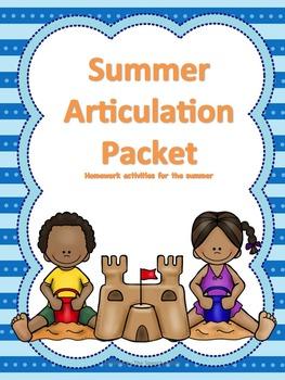 Summer Articulation Packet