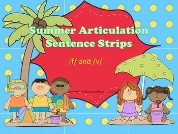 /f/ and /v/ Summer Artic/Language Sentences & Activities f
