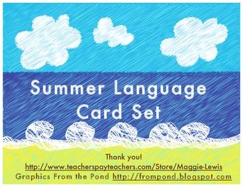Summer Assorted Language Cards: Classroom or Speech
