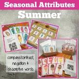 Summer Attributes Game: Compare/Contrast (includes a Carib