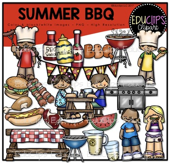 Summer BBQ Clip Art Bundle {Educlips Clipart}