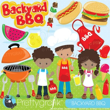 Summer BBQ clipart commercial use, graphics, digital clip