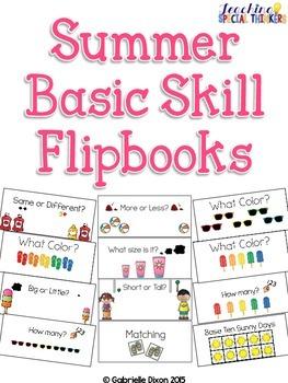 Summer Basic Skill Flipbooks